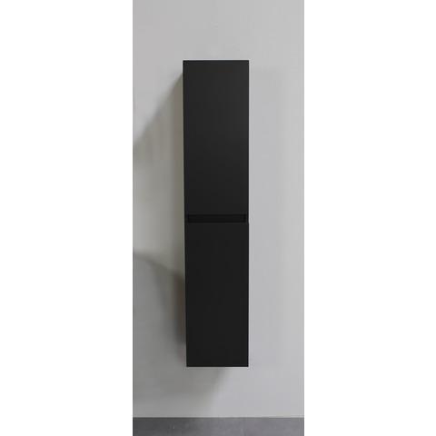 Bewonen Luuk hoge kast 145x30x30cm - mat zwart - geassembleerd
