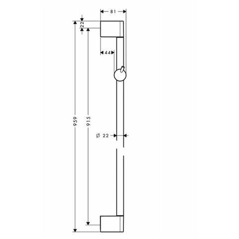 Hansgrohe Crometta glijstang 90 cm. chroom
