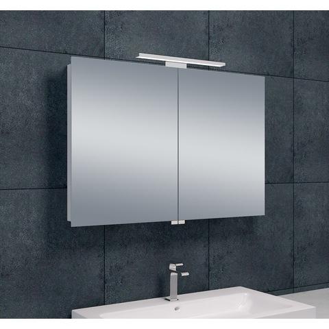 Wiesbaden Bright spiegelkast met LED verlichting 90x60