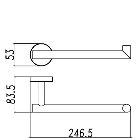 Wiesbaden Brush handdoekbeugel 25cm RVS 304