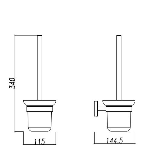Wiesbaden Brush toiletborstelhouder wand RVS 304