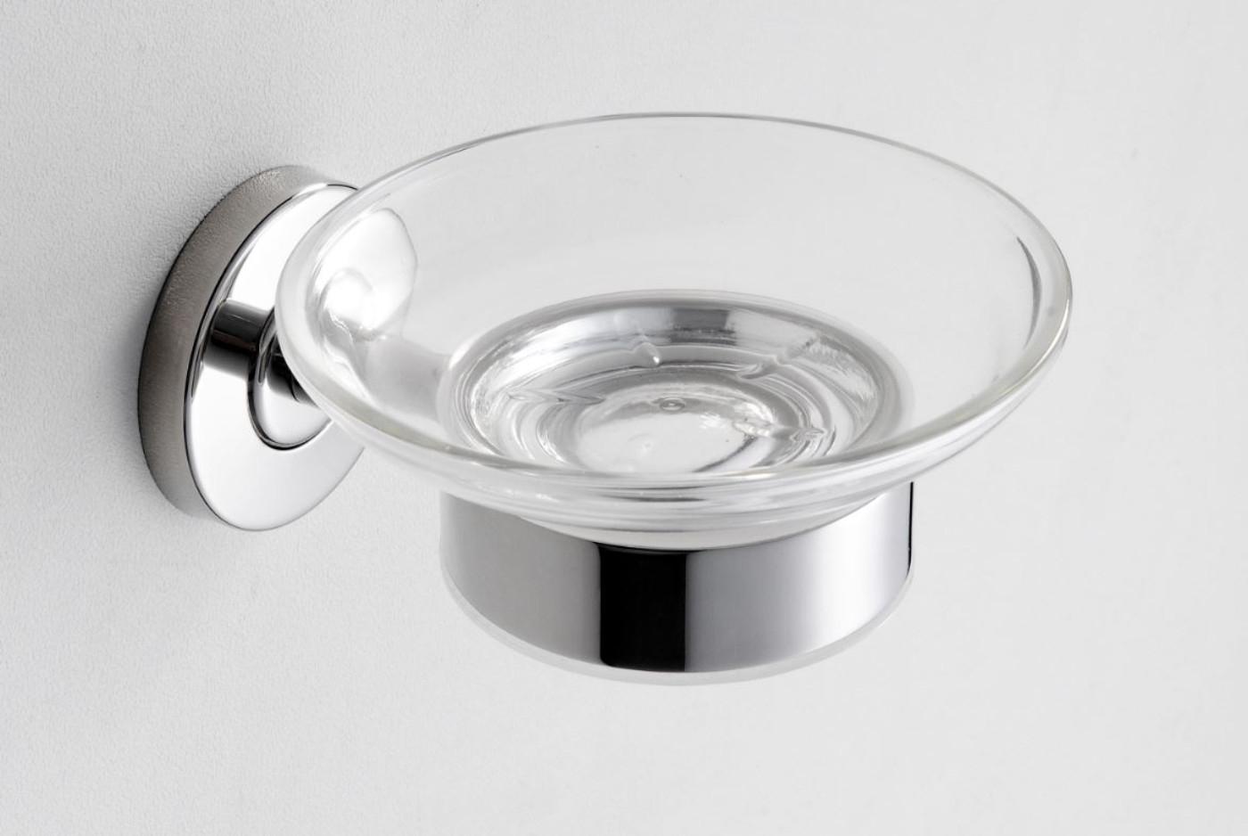 Wiesbaden Brush zeephouder RVS 304 met glas