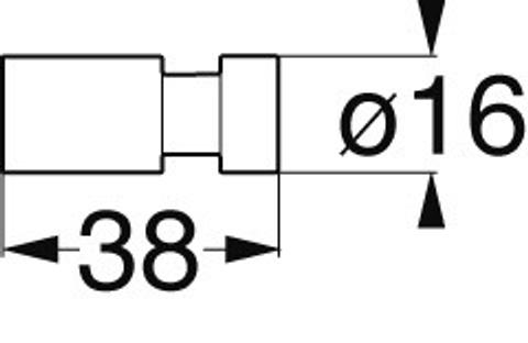 Emco System 2 haak klein chroom