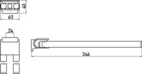 Emco System 2 2-lids handdoekhouder 34,6 cm. draaibaar chroom