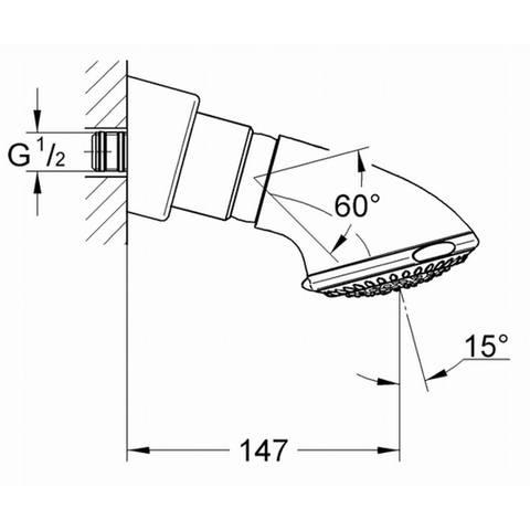 Grohe Relexa -2 hoofddouche trio chroom