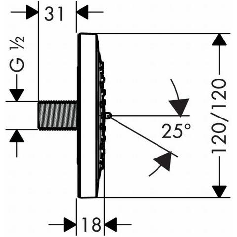 Hansgrohe Puravida zijdouche 10 cm. chroom