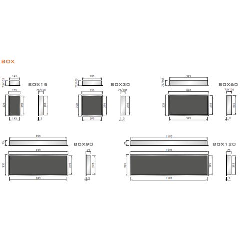 Looox Box inbouw nis 30x30cm - geborsteld RVS
