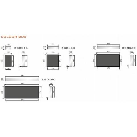Looox Colour Box in-opbouwnis 30x30cm - antraciet