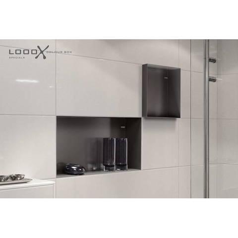 Looox Colour Box in-opbouwnis 60x30cm - antraciet