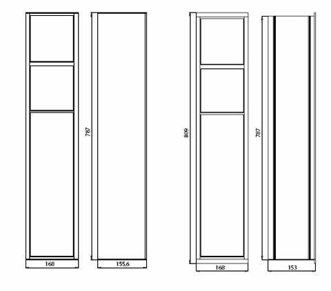 Emco Asis inbouwmodule toilet 17.4 x 80.5 x 15 cm. chroom-glas wit