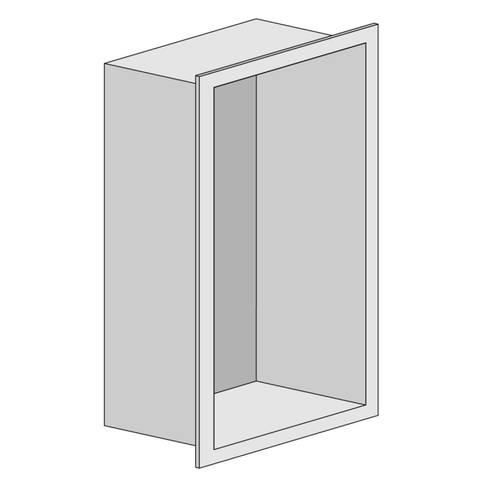 Looox Box inbouw nis 15x30x7cm - geborsteld RVS