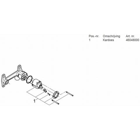 Grohe Universeel basisgarnituur voor 2-gats kraan