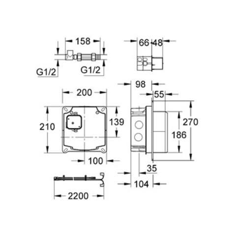 Grohe  basisgarnituur voor electronisch wandkraan