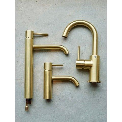 Regn fonteinkraan - geborsteld goud