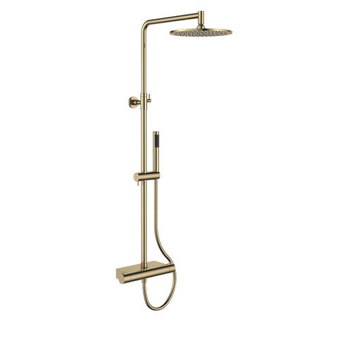 Regn thermostatische regendouche en planchet - geborsteld goud