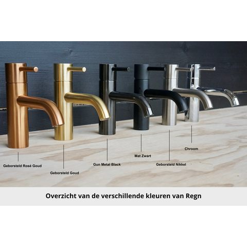 Regn fonteinkraan gebogen inbouw - inkortbaar - geborsteld nikkel