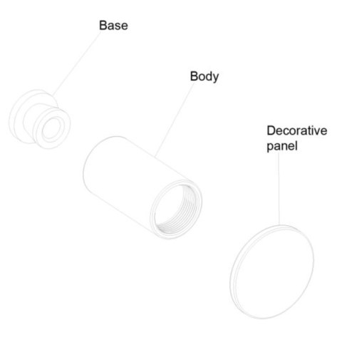 Regn handdoekhaak groot - geborsteld nikkel