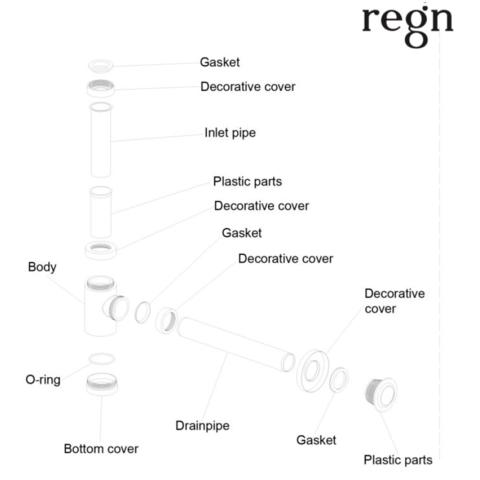 Regn fonteinsifon - gun metal black