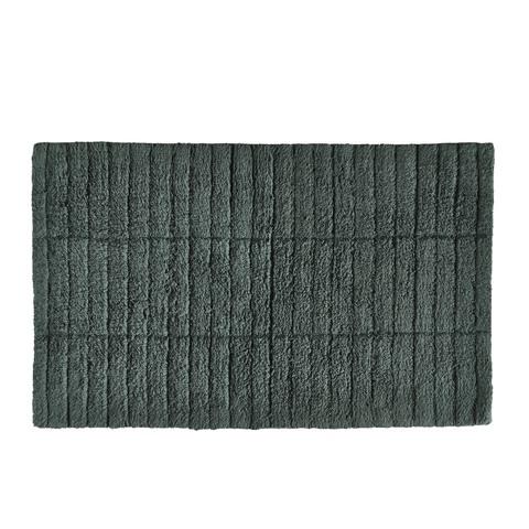 Zone Denmark badmat - tiles - pinegroen - 100% katoen - 80 x 50 cm