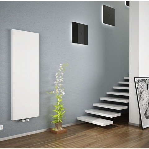 Bewonen Alento verticale designradiator met vlakke voorplaat - type 20 - 180x50cm - wit