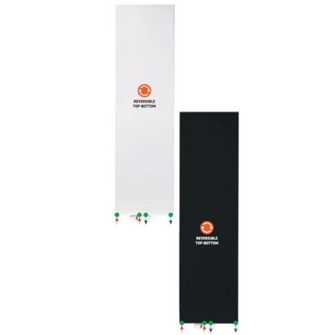 Bewonen Alento verticale designradiator met vlakke voorplaat - type 22 - 180x50cm - mat zwart