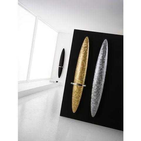 Instamat Blade V designradiator verticaal met handdoekbeugel 170 x 36 cm (H x L) geborsteld verguld