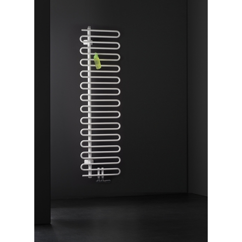 Instamat Cobra badkamerradiator 114.1 x 50 cm (H x L) collectorbuis links wit