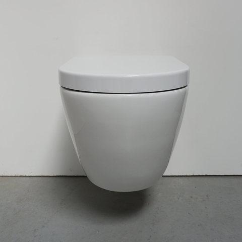 Bewonen Teade hangtoilet Rimless glans wit - met Softclose zitting