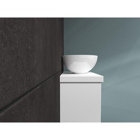 Bewonen Top fonteinmeubel 40cm - opzetkom keramiek - mat wit