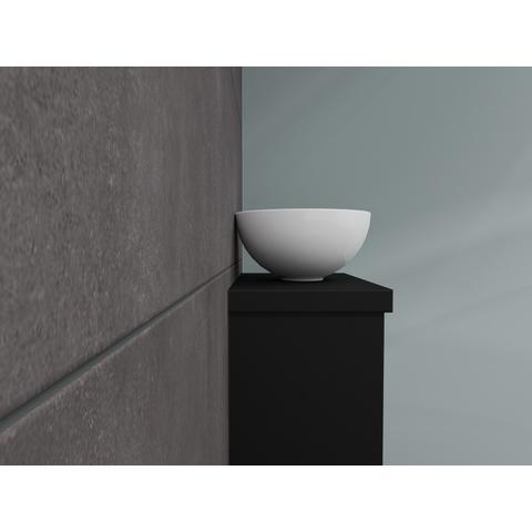 Bewonen Top fonteinmeubel 40cm - opzetkom keramiek - mat zwart