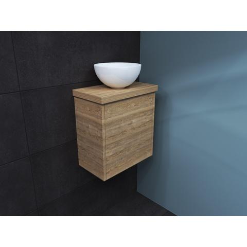 Bewonen Top fonteinmeubel 40cm - opzetkom keramiek - ideal oak