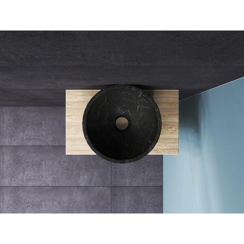 Bewonen Top fonteinmeubel 40cm - opzetkom hardsteen - ideal oak