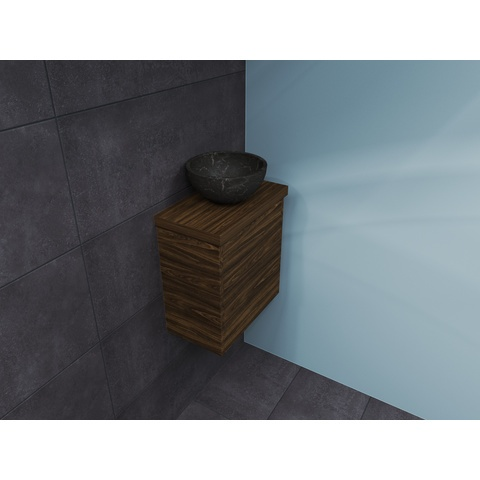 Bewonen Top fonteinmeubel 40cm - opzetkom hardsteen - cabana oak