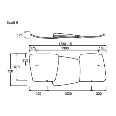 Instamat Scudi designradiator horizontaal 72 x 173 cm (H x L) wit