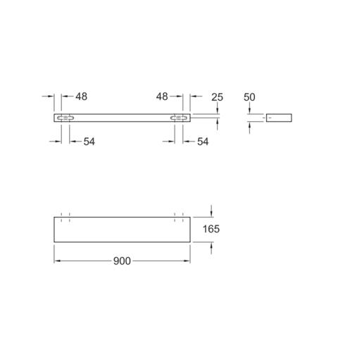 Sphinx 345 planchet 90x5x16,5cm wit