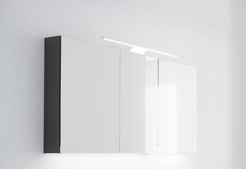 Thebalux Basic spiegelkast - 120x60cm- vulcano brown