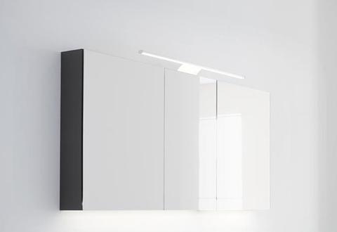 Thebalux Basic spiegelkast - 130x70cm - antraciet hoogglans