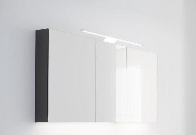Thebalux Basic spiegelkast - 130x70cm - zijdeglans wit