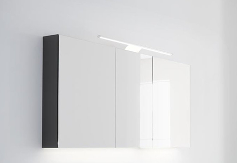 Thebalux Basic spiegelkast - 160x70cm - nebraska eiken