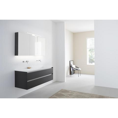 Thebalux Basic spiegelkast - 160x70cm - vulcano brown