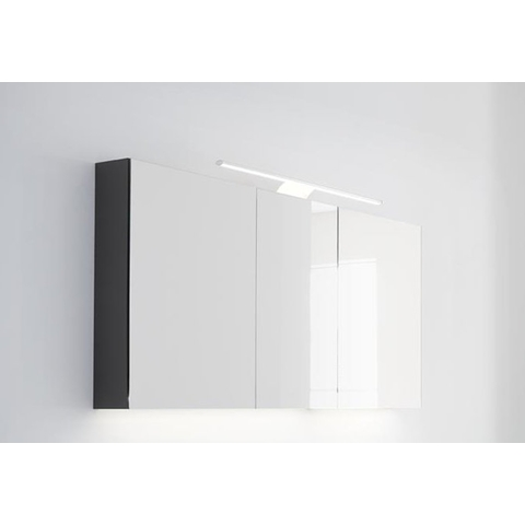 Thebalux Basic spiegelkast - 60x70cm - wit hoogglans lak - linksdraaiend