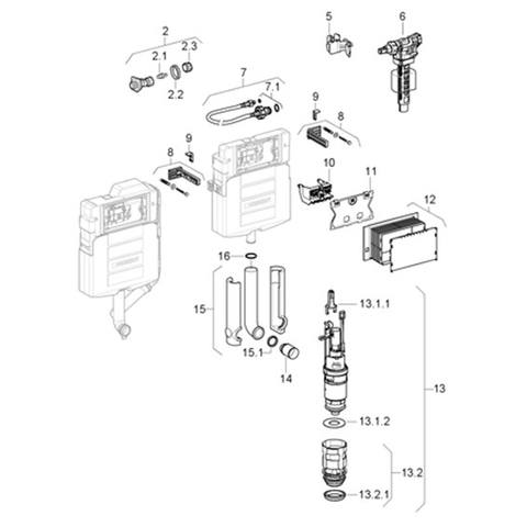 Geberit Duofix up320 inbouwreservoir h112 cm Compleet