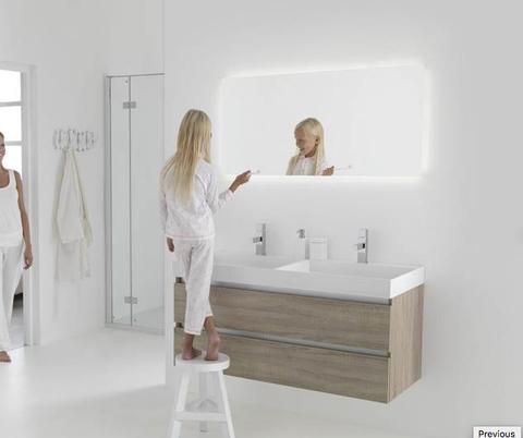 Thebalux Bright LED spiegel - 130cm - met spiegelverwarming