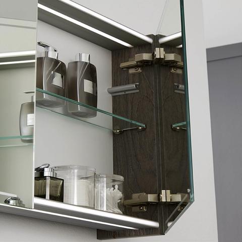 Thebalux Deluxe spiegelkast - 100x70cm - nebraska eiken