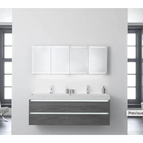 Thebalux Deluxe spiegelkast - 120x60cm - wit glans