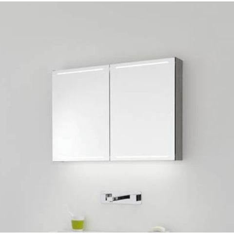 Thebalux Deluxe spiegelkast - 130x60cm - bardolino eiken