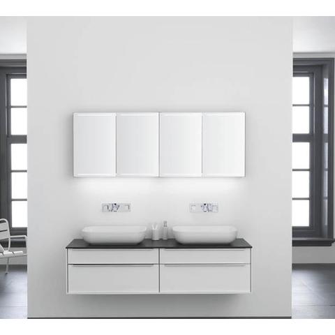 Thebalux Deluxe spiegelkast - 130x70cm - antraciet hoogglans