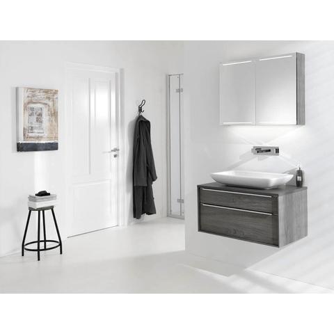Thebalux Deluxe spiegelkast - 130x70cm - bardolino eiken