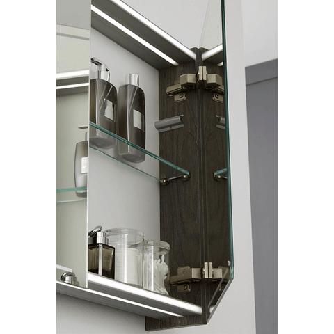 Thebalux Deluxe spiegelkast - 130x70cm - eiken antraciet