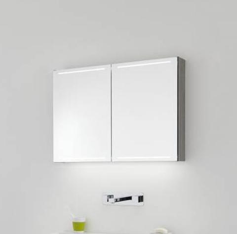 Thebalux Deluxe spiegelkast - 130x70cm - vulcano brown